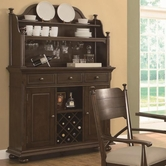 Coaster 104574 BUFFET/HUTCH (BROWN CHERRY)