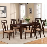 Coaster 104591-92 ESPRESSO DINING-TABLERICH-Chair Dining Set
