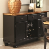 Coaster 104615 SERVER (OAK/BLACK)