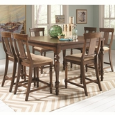 Coaster 104728-29 COCOA-BROWN COUNTER-HEIGHT-TABLE-Chair Set