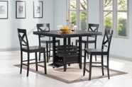 Coaster 104838-39 BLACK COUNTER-HEIGHT-TABLE-Chair Set