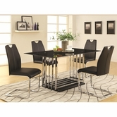 Coaster 105301-02 CHROM DINING-TABLEE-CHAIR