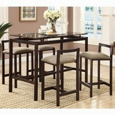 Coaster 120575 5 PC COUNTER HEIGHT SET (BROWN)