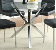 Coaster 120760 DINING TABLE (CHROME)
