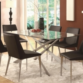 Coaster 120971 DINING TABLE (SILVER METAL)