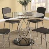 Coaster 120990 DINING TABLE (CHROME/GLOSSY BLACK)