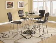 Coaster 120997-4X99 Ciccone Contemporary Counter Height Glass Table and Chairs