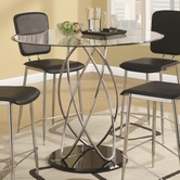 Coaster 120997 COUNTER HEIGHT TABLE (CHROME/GLOSSY BLACK)