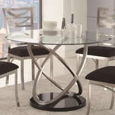 Coaster 121041 DINING TABLE (SILVER METAL)