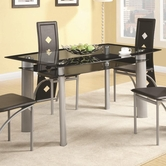 Coaster 121051 DINING TABLE (SILVER METAL)