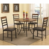 Coaster 150164 5PC SET (OAK/BLACK)