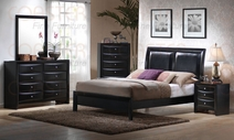 Coaster 200701Q-03-04 Bedroom Set in Glossy Black Finish