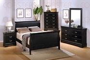 Coaster 201071Q-73-74 Deep Black Sleigh Bedroom Furniture Set