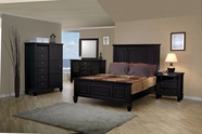Coaster 201321Q-23-24 Bedroom Set with Panel Bed in Black Finish