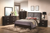 Coaster 202471Q-73-74 Andreas Bedroom Collection Queen Bed + Dresser + Mirror
