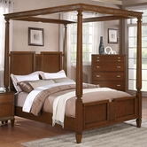 Coaster 202481Q Generations by Coaster Jayden Queen Canopy Bed with Turned Posts