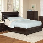 Coaster 202491Q QUEEN SLEIGH BED (BROWN MAPLE)