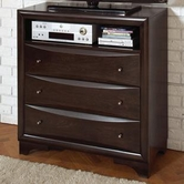 Coaster 202496 MEDIA CHEST (BROWN MAPLE)