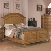 Coaster 202571Q QUEEN BED (LIGHT OAK)