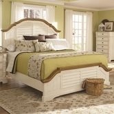 Coaster 202880Q QUEEN BED (BUTTERMILK/BROWN)