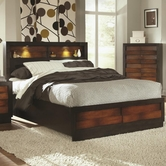 Coaster 202911KE E KING STORAGE BED (RADDISH OAK / ESPRESSO)