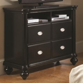 Coaster 202946 MEDIA CHEST (BLACK)