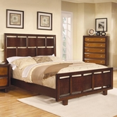 Coaster 203071Q QUEEN BED (OAK/BROWN/CHERRY)