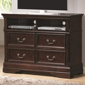 Coaster 203196 MEDIA CHEST (DARK CHERRY)