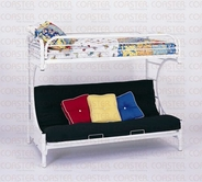 Coaster 2253W TWIN/FUTON BUNK BED, WHITE