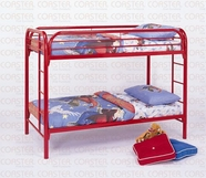 Coaster 2256R TWIN/TWIN BUNK BED, RED