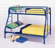 Coaster 2258B TWIN/FULL BUNK BED, BLUE