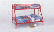 Coaster 2258R TWIN/FULL BUNK BED, RED