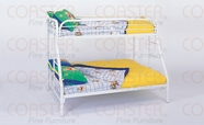 Coaster 2258W TWIN/FULL BUNK BED, WHITE
