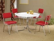 Coaster 2388-2450Rx4 5Pc Dining Set Red