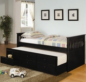 Coaster 300104 TRUNDLE BED BLACK