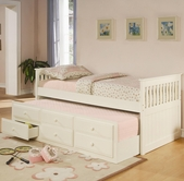 Coaster 300107 TRUNDLE BED WHITE