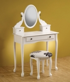 Coaster 300288 2-PIECE VANITY SET (WHITE)