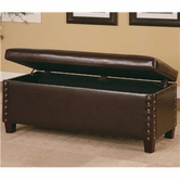 Coaster 300378 Lewis Upholstered Storage Bench