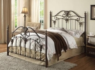 Coaster 300393Q QUEEN BED (ANTIQUE BRONZE)
