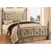 Coaster 300394Q QUEEN BED (ANTIQUE SILVER)