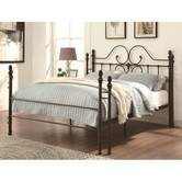 Coaster 300471Q Iron Beds and Headboards Traditional-style Iron Queen Bed with Scroll Design
