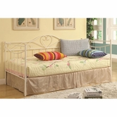 Coaster 300483-1138A Frida Daybed with White Metal Frame