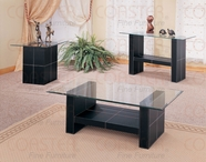 Coaster 3896-97-98 Collection Leather Occasional Table Set