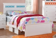 Coaster 400611F FULL SIZE BED (WHITE/RED/ORANGE/BLUE)