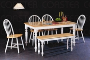 Coaster 4160-4129x4-4110 Natural and White Dining Set