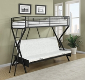 Coaster 460020 TWIN/TWIN BUNK BED (SANDY BLACK)