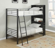 Coaster 460021 MULTIFUNCTIONAL BUNK BED (GUNMETAL/SILVER)