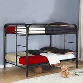 Coaster 460056K FULL/FULL BUNK BED, BLACK