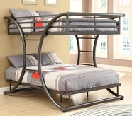 Coaster 460078 FULL/FULL BUNK BED (GUNMETAL)