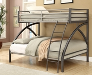 Coaster 460079 TWIN/FULL BUNK BED (BLACK)